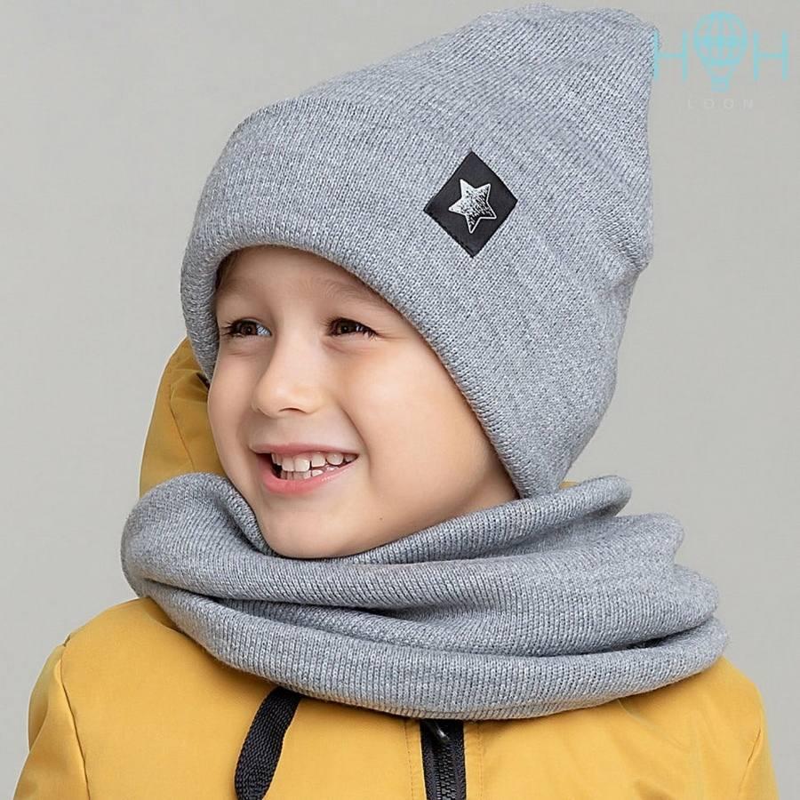 Зимняя шапка+снуд HOH